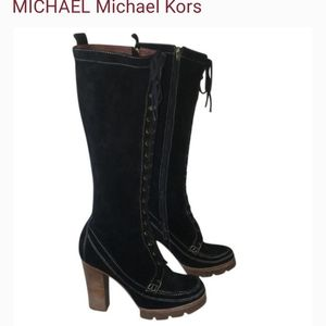 ❣Michael kors❣black suede /leather Boots 7.5m